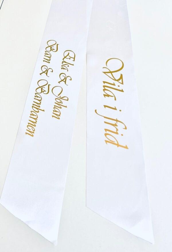 Kransband vit | Glossy