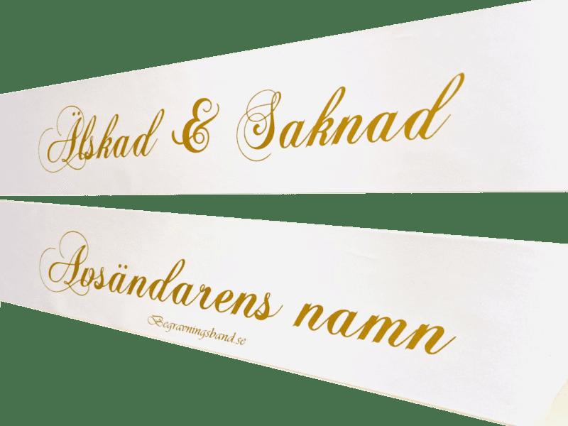 Kransband Vit | Guld