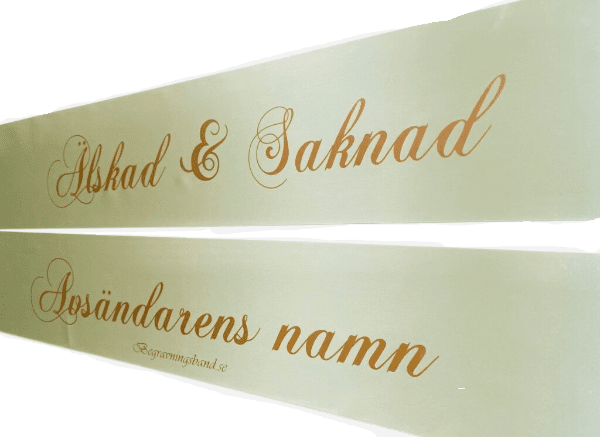 Grön-guldtext-begravningsband-kransband